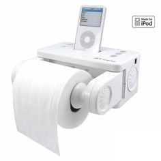 """YES! Tech gadget for toilet: the iPod docking Station """"iCarta"""" for mobile lifestyle at home High Tech Gadgets, Gadgets And Gizmos, Latest Gadgets, Fun Gadgets, Technology Gadgets, Music Gadgets, Awesome Gadgets, Unique Gadgets, Baby Gadgets"""