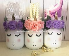 38 Ideas Party Decorations Gold Pink Pom Poms For 2019 Party Unicorn, Unicorn Themed Birthday Party, Unicorn Baby Shower, Unicorn Birthday Parties, Birthday Party Decorations, 2nd Birthday, Birthday Ideas, Purple Birthday, Room Decorations
