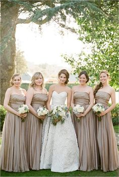 Champaigne bridesmaids love the dresses