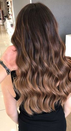 Long Wavy Ash-Brown Balayage - 20 Light Brown Hair Color Ideas for Your New Look - The Trending Hairstyle Brown Hair Balayage, Brown Blonde Hair, Balayage Brunette, Light Brown Hair, Hair Color Balayage, Brunette Hair, Hair Highlights, Bronde Balayage, Ombre For Brown Hair