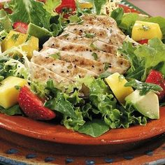 Grilled Margarita Chicken Salad - Healthy and perfect for summer.