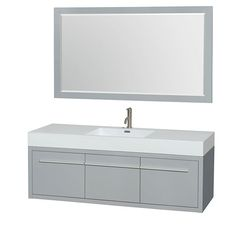 Wyndham Collection Axa Single Bathroom Vanity Set With Mirror