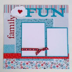 Family Fun  Vacation  Holiday  Family  premade by ohioscrapper, $15.00