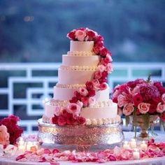Hot Pink Wedding cake | Top & Popular Pinterest Recipes