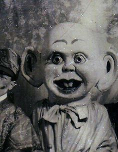 """Fact: Was voted """"The Creepiest Doll Ever Made"""" 38 years in a row.  Secret Facts: Was in a same-sex relationship with Pinocchio for six years. Has a deep fear of Woody Woodpecker."""