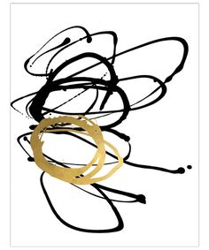 Leftbank Art Action Stroke II Gilded Unframed Giclee Bliss Home And Design, Abstract Print, Metal, Artwork, Inspiration, Master Bedroom, Action, Biblical Inspiration, Master Suite