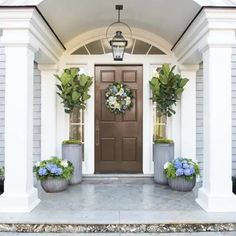Creating a beautiful entry is as easy as 1-2-3!  Check out our tips for creating an eye-popping porch.  @sherwinwilliams  #frontdoor #porch #outside #design