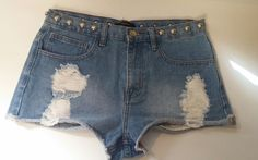 forever 21 denim jean shorts size 28 waist short shorts studded distressed sexy #FOREVER21 #MiniShortShorts #shop #shopping #shoponline #ebay #ebayseller #usaseller #tiffanysthreads #freeshipping #shipfree #clothing #clothes #like #follow #love #shoppingaddict #shoppingqueen #shoppingtime #musthave #fasiontrend #whatstrending #ontend #styleblog #style #fashionable #fashion #affordable #deals #promo #sale #special #forsale #denim #shorts #shortshorts #sexyclothes