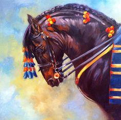 View a selection of horse paintings by Okanagan wildlife and equine artist Kindrie Grove