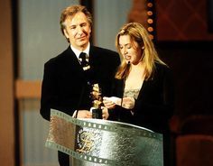 Alan Rickman and Kate Winslet in Berlin, 1997