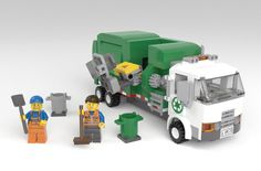 Lego Technic Truck, Lego Truck, Modele Lego, Garbage Collection, Garbage Truck, Lego Building, Everyday Objects, Lego City, Legos