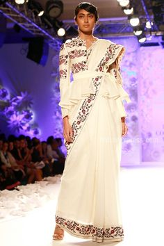 """#IndiaCoutureWeek 2016 (July): """"Ace designer Rahul Mishra showcased his latest collection - Monsoon Diaries...The collection features weaving techniques like French knots and wire work."""""""