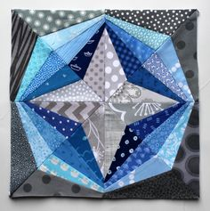 Free paper piecing star block from Wombat Quilts