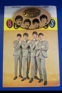 Original Beatles leather jewelry on display card- from 1964