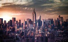 New York Buildings Skyscrapers Photo HD Wallpaper
