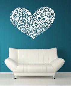 Wall decal #DIY  Love the turquoise background!