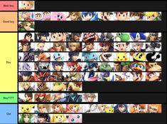 Boys Tier List Smash Bros Funny Smash Bros Super Smash Bros Memes