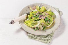 Barquinha de alface com atum e ervilha   Panelinha - Receitas que funcionam