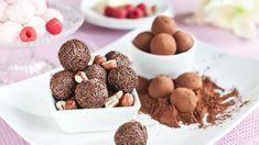 Že znáte lanýže pouze jako drahé houby? Tak zkuste ty naše! Jsou zčokolády alanýže připomínají svým vzhledem. Sametově čokoládové, krémové oříškové nebo ty smalinami, všechny skvělé ahned hotové! Hamburger, Cereal, Almond, Breakfast, Sweet, Food, Creative, Morning Coffee, Candy