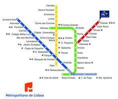 Mapa - Metropolitano de Lisboa -