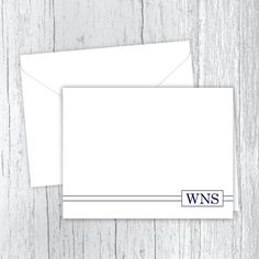3 Initials Men's Personalized Note Cards Web Address, Small Letters, Personalized Note Cards, White Envelopes, Texts, Card Stock, I Shop, Initials, Stationery