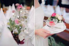 Tischdekoration für Hochzeit Restaurant Osteria Kuckuck Augsburg