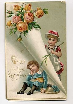 354 best new years vintage cards images on pinterest in 2018