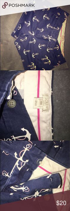 J.Crew anchor shorts Great condition! Size 00. J.Crew J. Crew Shorts