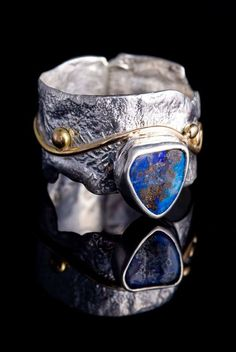 Fabulous Ring - Julie Sanford Designs. Gold, Silver, and Brilliant opal.