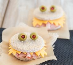 Whip up these monster sandwiches for Halloween.