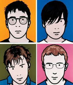 (Originally done for their Album cover) Julian Opie - Blur , National Portrait Gallery, London. (Originally done for their Album cover) National Gallery, National Portrait Gallery, Music Album Covers, Music Albums, Gorillaz, Norman Rockwell, Cd Cover, Cover Art, Peliculas Western