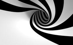 Black and White Stripes Swirl wallpaper