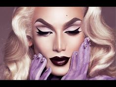 """Miss Fame is transformed into the """"SuperNatural Blonde"""". A step-by-step drag makeup tutorial which reveals the natural beauty within your faces. Inspired by ..."""