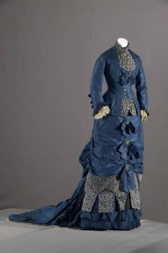 fashionsfromhistory:  Bridesmaid Dress 1879 United States