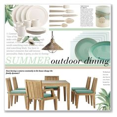 """""""Summer outdoor dining"""" by annatiblog ❤ liked on Polyvore featuring interior, interiors, interior design, home, home decor, interior decorating, Home Decorators Collection, Kichler, Design Imports and Kim Seybert"""