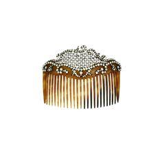 Lovely Edwardian Paste Haircomb, France (via Edwardian Jewelry, Edwardian Era, Vintage Jewelry, Edwardian Hairstyles, Vintage Hairstyles, Downton Abbey, Retro Updo, Vintage Hair Combs, Barrettes