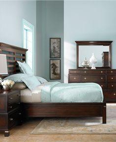 Blue walls,dark furniture, golden floor | My New Rooms Ideas ...