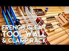 (1) French Cleat Tool Storage Wall and Clamp Rack | How To Build - Woodworking - YouTube