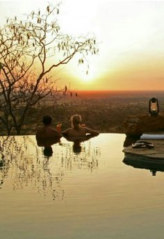 Wilderness sundowner in the pool - Elsa's Kopje, Meru National Park, Kenya