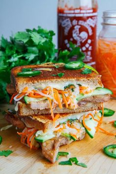"""hoardingrecipes: """" Banh Mi Grilled Cheese """""""