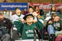 A young Beaver hockey fan cheers on BSU in a nonconference match up with No. 12 Miami (11/30/13). http://www.bsubeavers.com/mhockey/photos/2013-14/451/