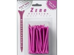 """Zero Friction Performance Golf Tees Pink by Zero Friction. $3.95. 3 1/4 """" Pink Golf Tees, 35 tees in Sealed Package"""