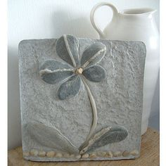 Gorgeous Flower Tile made out of stones =)