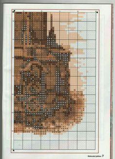 Ph5 Cross Stitch Landscape, Grid, Embroidery, Praha, Needlepoint, Crewel Embroidery, Embroidery Stitches
