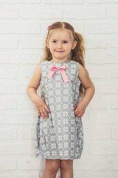Bawełniana sukienka bombka, kwiaty, spinki w CASUAL NATURAL CLOTHES na DaWanda.com