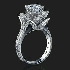 Gorgeous flower engagement ring