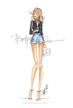 One of my summer goals is to invest in a paddle board. Until then, I'll be scouring the web for the perfect paddle boarding outfit. Arte Fashion, Fashion Dolls, Girl Fashion, Fashion Outfits, Ballet Fashion, Fashion Design Drawings, Fashion Sketches, Fashion Illustrations, Illustration Mode