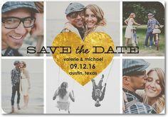 Gilded Heart - Save the Date Magnets - Jenny Romanski - Black : Front 40 @ 2.54 each, $101.60, 30 @ 2.54 ea, $76.20 total