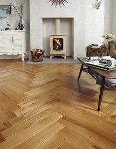 Rustic Oak Herringbone / Eiken Visgraat parket +/- $150 per square meter.