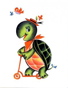 Vintage Turtle On A Scooter Card - A Stationery and Craft Emporium - le petit paperie Turtle Homes, Blank Cards And Envelopes, Scooter Design, Artists For Kids, Vintage Cards, Note Cards, Crafts To Make, Cool Pictures, Stationery